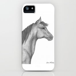 Horse Profile by Ave Hurley iPhone Case