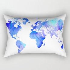 Watercolour World Rectangular Pillow