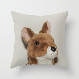Cute kangaroo plush 0031 Throw Pillow