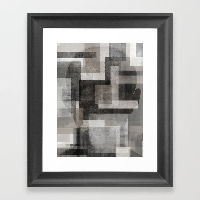 Modern Abstract No 1 Human Anatomy Framed Art Print By