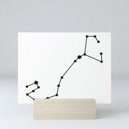 Scorpio Star Sign Black & White Mini Art Print