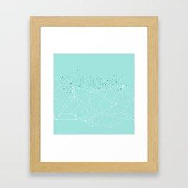 LIGHT LINES ENSEMBLE IX TURQUOISE Framed Art Print