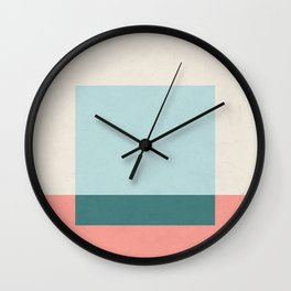 Blue Square Wall Clock