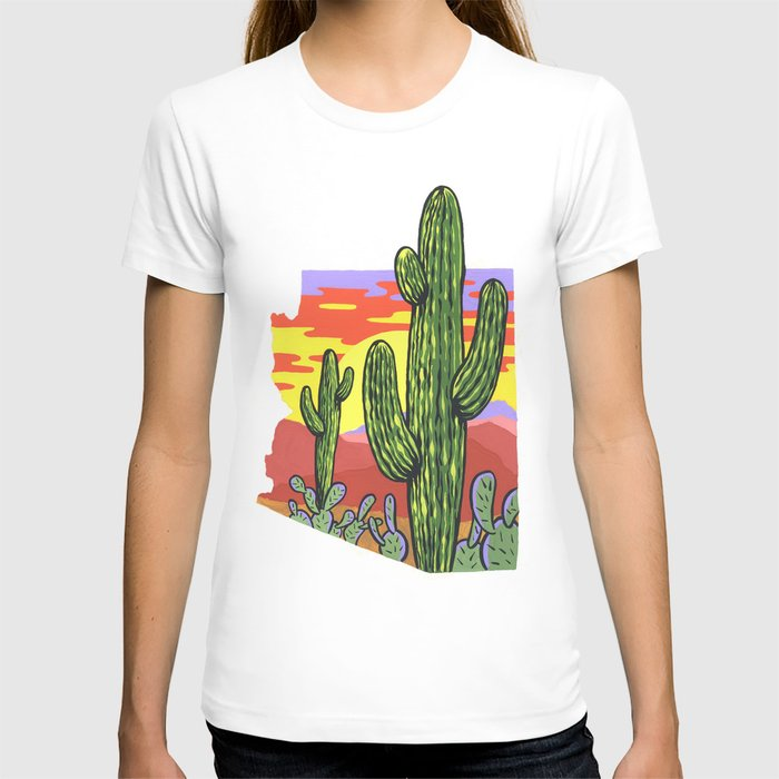 Arizona Saguaro Sunset T-shirt