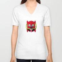 diablo V-neck T-shirts featuring Diablo by Blanca Limón