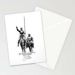 Don Quixote de la Mancha y Sancho Panza-Cervantes-Spain-Literature-Chivalry, Knighthood Stationery Cards