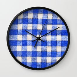 Gingham / vichy Pattern -strips,fashion,squares,french,vichy, gingham,bistrot,textiles,indie Wall Clock