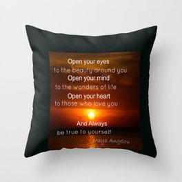 Maya Angelou Quote Throw Pillow