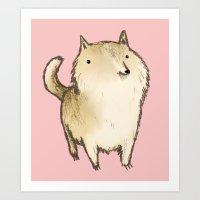 shiba inu Art Prints featuring Shiba Inu by Sophie Corrigan