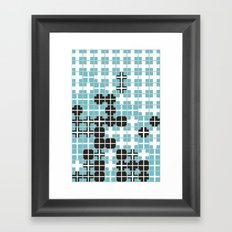 White Crosses Framed Art Print