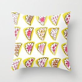 Japanese Crepes Throw Pillow