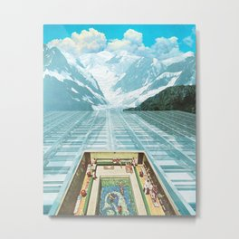 Glacial Bathing Metal Print