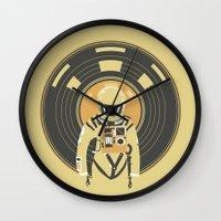dj Wall Clocks featuring DJ HAL 9000 by Robert Farkas