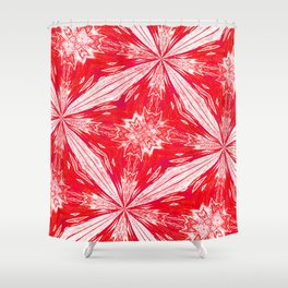 Tropical Red and White Fashion Shower Curtain