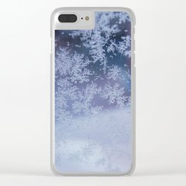 Frozen whispers Clear iPhone Case