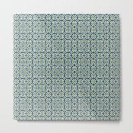 Portuguese pattern yellow Metal Print