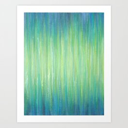 Ombre Aqua Bliss painting Art Print
