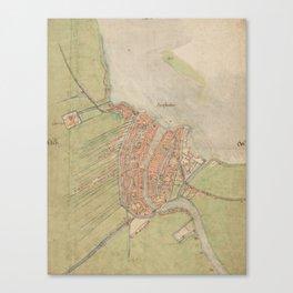 Vintage map of Amsterdam (1560) Canvas Print