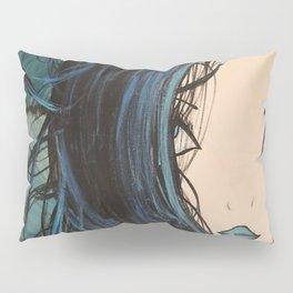 My Mermaid. Original Painting by Jodilynpaintings. Figurative Abstract Pop Art. Pillow Sham