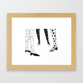 Ladies in Socks and Shoes Framed Art Print
