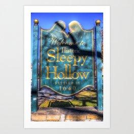 Sleepy Hollow Village Sign Art Print