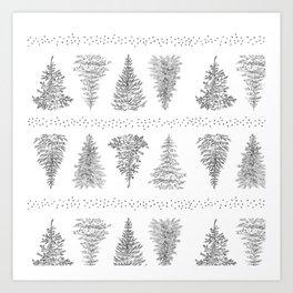 Holiday Trees Art Print