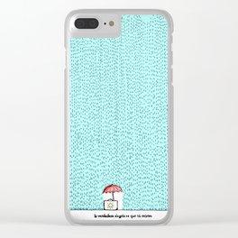 La verdadera alegría es que tú existes Clear iPhone Case