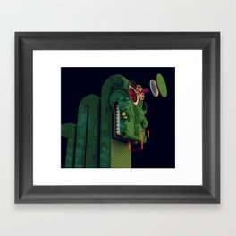 Reptile Brain Framed Art Print