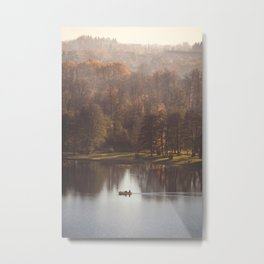 Little boat on the lake Metal Print