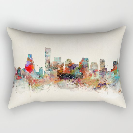 boston city skyline Rectangular Pillow