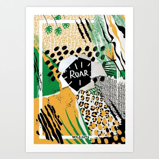 ROAR (wild cats) Art Print
