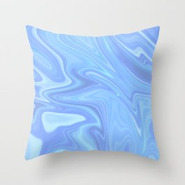 Silky Marble Throw Pillow
