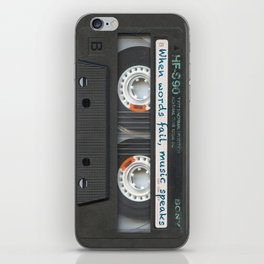 Cassette iPhone - Words iPhone Skin