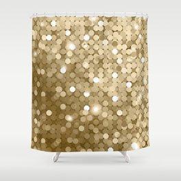 Gold glitter texture Shower Curtain