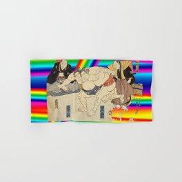 LGBT Sumo Wrestlers. Color Pride. Ukiyoe. Hand & Bath Towel