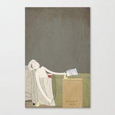 The Death of Marat Canvas Print