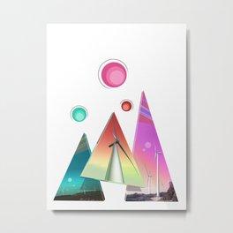 Spacey Wind Sails Metal Print