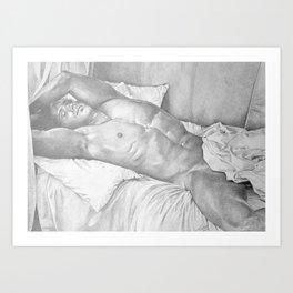 Sleeping Nude Art Print