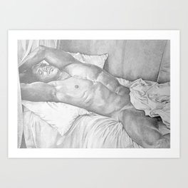 Sleeping Nude Art Print