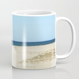Minimalist Sand, Sea, and Sky Coffee Mug