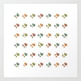 The leaves fall Art Print