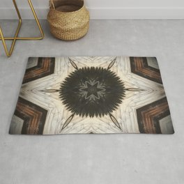 Quartz and Feather // Magical Visionary Shamanic Art Crystal Grid Energy Healing Peace Sacred Star Rug