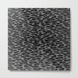 grey cheetah Metal Print