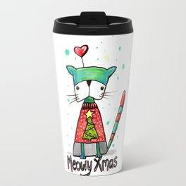 Meowy Xmas Travel Mug