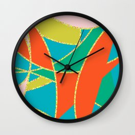 Polka-dotted Abstract Wall Clock