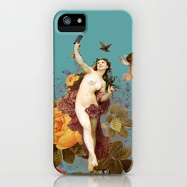 Selfie (blue) iPhone Case