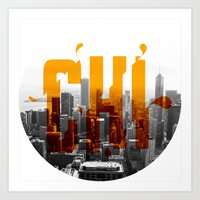Rep your City: Chi Town Art Print