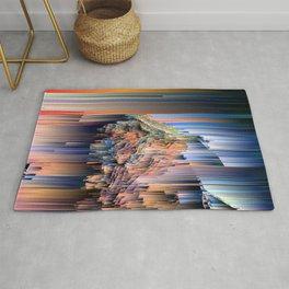Weird Glitches - Abstract Pixel Art Rug