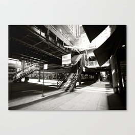 "Chicago ""L"" Train Station Canvas Print"