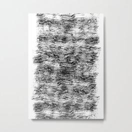Black Pattern#4 Metal Print
